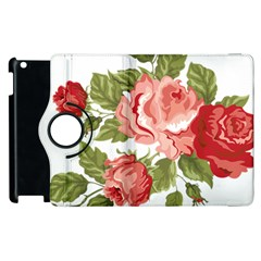 Flower Rose Pink Red Romantic Apple Ipad 3/4 Flip 360 Case by Nexatart