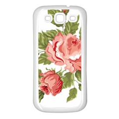 Flower Rose Pink Red Romantic Samsung Galaxy S3 Back Case (white)
