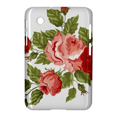 Flower Rose Pink Red Romantic Samsung Galaxy Tab 2 (7 ) P3100 Hardshell Case  by Nexatart