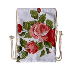 Flower Rose Pink Red Romantic Drawstring Bag (small) by Nexatart