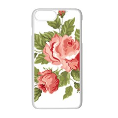 Flower Rose Pink Red Romantic Apple Iphone 7 Plus White Seamless Case