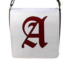 The Scarlet Letter Flap Messenger Bag (l)  by Valentinaart
