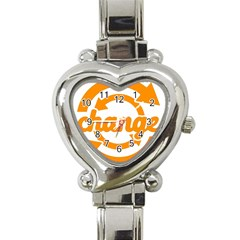 Think Switch Arrows Rethinking Heart Italian Charm Watch by Nexatart