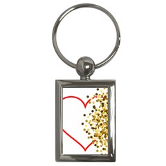 Heart Transparent Background Love Key Chains (rectangle)  by Nexatart
