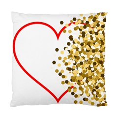 Heart Transparent Background Love Standard Cushion Case (two Sides) by Nexatart