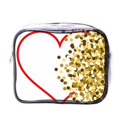 Heart Transparent Background Love Mini Toiletries Bags by Nexatart