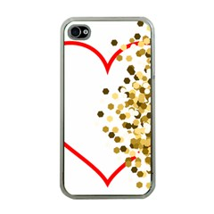 Heart Transparent Background Love Apple Iphone 4 Case (clear)