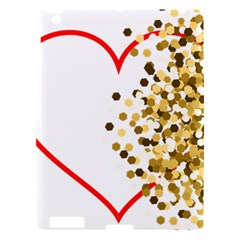 Heart Transparent Background Love Apple Ipad 3/4 Hardshell Case by Nexatart