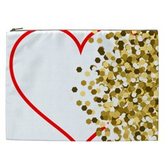 Heart Transparent Background Love Cosmetic Bag (xxl)  by Nexatart