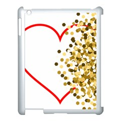 Heart Transparent Background Love Apple Ipad 3/4 Case (white) by Nexatart