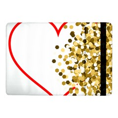 Heart Transparent Background Love Samsung Galaxy Tab Pro 10 1  Flip Case by Nexatart