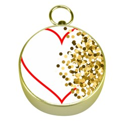 Heart Transparent Background Love Gold Compasses by Nexatart