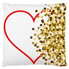 Heart Transparent Background Love Large Flano Cushion Case (two Sides) by Nexatart