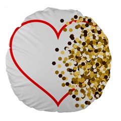Heart Transparent Background Love Large 18  Premium Flano Round Cushions by Nexatart