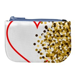 Heart Transparent Background Love Large Coin Purse by Nexatart