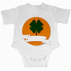 St Patricks Day Ireland Clover Infant Creepers by Nexatart
