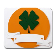 St Patricks Day Ireland Clover Large Mousepads by Nexatart