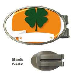 St Patricks Day Ireland Clover Money Clips (oval)  by Nexatart