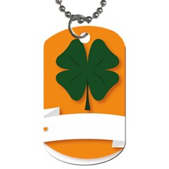 St Patricks Day Ireland Clover Dog Tag (one Side)