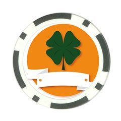 St Patricks Day Ireland Clover Poker Chip Card Guard