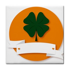 St Patricks Day Ireland Clover Face Towel