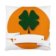 St Patricks Day Ireland Clover Standard Cushion Case (two Sides) by Nexatart