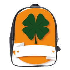 St Patricks Day Ireland Clover School Bags(large)  by Nexatart
