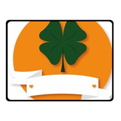 St Patricks Day Ireland Clover Fleece Blanket (small)