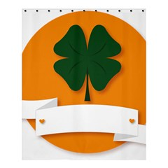 St Patricks Day Ireland Clover Shower Curtain 60  X 72  (medium)  by Nexatart