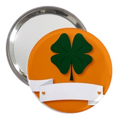 St Patricks Day Ireland Clover 3  Handbag Mirrors by Nexatart