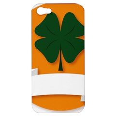 St Patricks Day Ireland Clover Apple Iphone 5 Hardshell Case by Nexatart