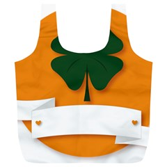 St Patricks Day Ireland Clover Full Print Recycle Bags (l)  by Nexatart