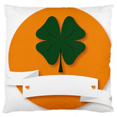 St Patricks Day Ireland Clover Standard Flano Cushion Case (one Side)