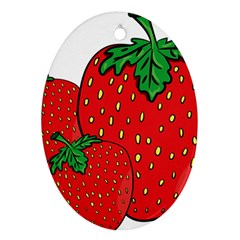 Strawberry Holidays Fragaria Vesca Ornament (oval) by Nexatart