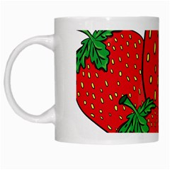 Strawberry Holidays Fragaria Vesca White Mugs