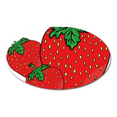 Strawberry Holidays Fragaria Vesca Oval Magnet