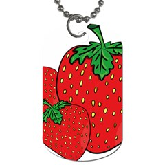 Strawberry Holidays Fragaria Vesca Dog Tag (two Sides) by Nexatart