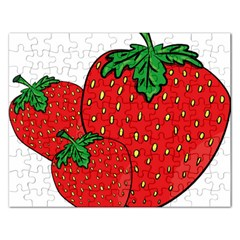 Strawberry Holidays Fragaria Vesca Rectangular Jigsaw Puzzl by Nexatart