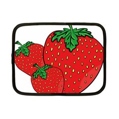 Strawberry Holidays Fragaria Vesca Netbook Case (small)  by Nexatart