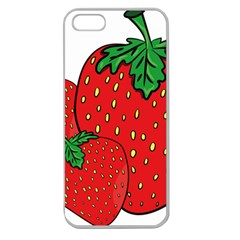 Strawberry Holidays Fragaria Vesca Apple Seamless Iphone 5 Case (clear) by Nexatart