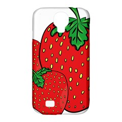Strawberry Holidays Fragaria Vesca Samsung Galaxy S4 Classic Hardshell Case (pc+silicone) by Nexatart