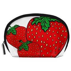 Strawberry Holidays Fragaria Vesca Accessory Pouches (large)  by Nexatart