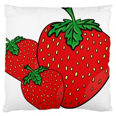 Strawberry Holidays Fragaria Vesca Large Flano Cushion Case (two Sides)