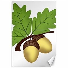 Acorn Hazelnuts Nature Forest Canvas 24  X 36