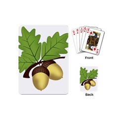 Acorn Hazelnuts Nature Forest Playing Cards (mini)  by Nexatart