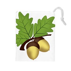 Acorn Hazelnuts Nature Forest Drawstring Pouches (large)
