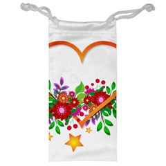 Heart Flowers Sign Jewelry Bag