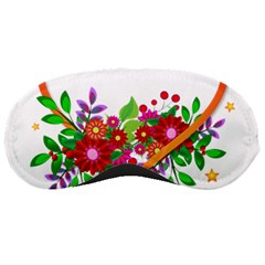 Heart Flowers Sign Sleeping Masks