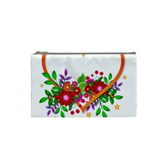 Heart Flowers Sign Cosmetic Bag (small)  by Nexatart