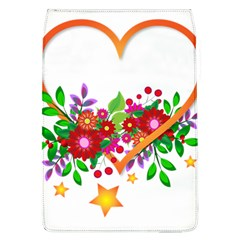 Heart Flowers Sign Flap Covers (l)  by Nexatart